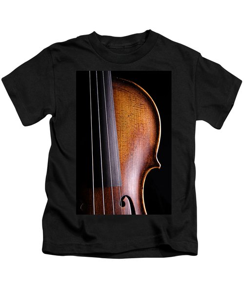 Violin Isolated On Black Kids T-Shirt
