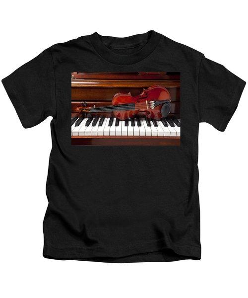 Violin On Piano Kids T-Shirt