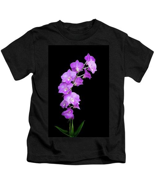 Vivid Purple Orchids Kids T-Shirt