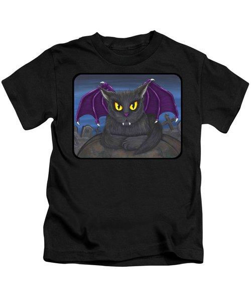 Vlad Vampire Cat Kids T-Shirt