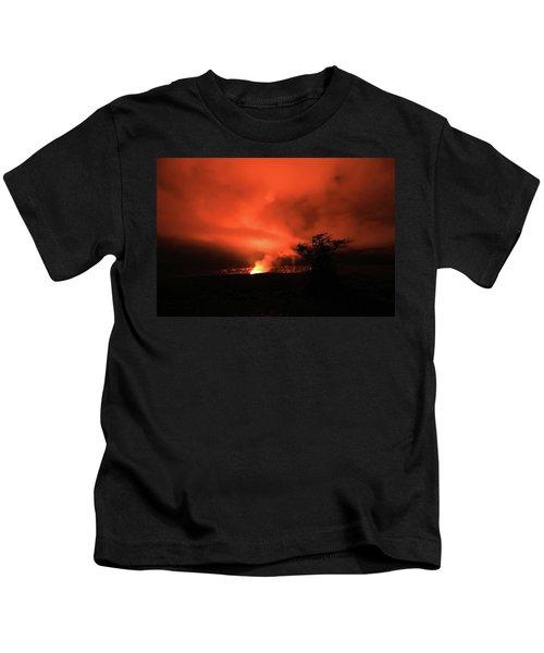 Volcano Under The Mist Kids T-Shirt