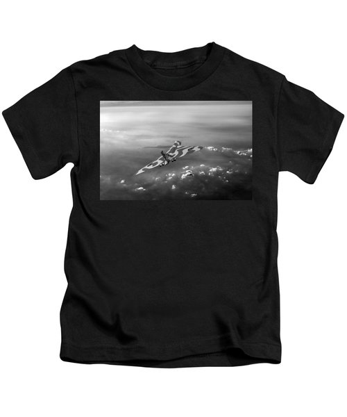 Vulcan Over The Channel Black And White Version Kids T-Shirt