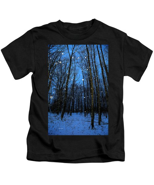Walk In The Snowy Woods Kids T-Shirt
