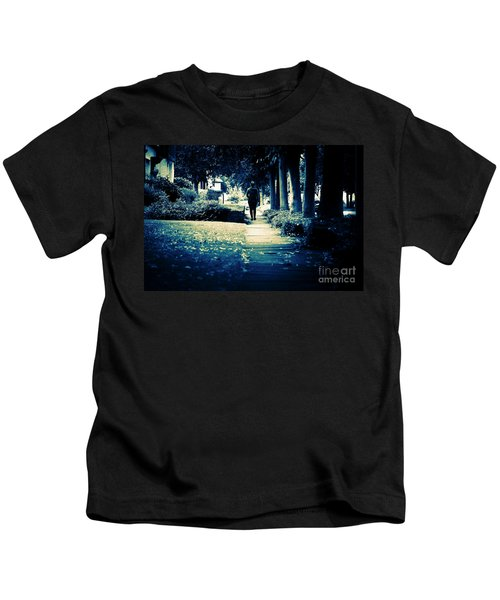 Walking A Lonely Path Kids T-Shirt