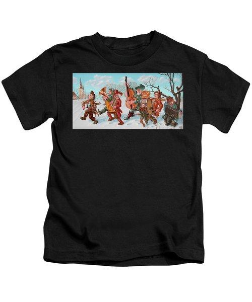 Walking Musicians Kids T-Shirt