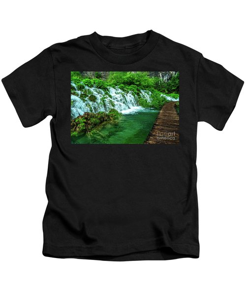 Walking Through Waterfalls - Plitvice Lakes National Park, Croatia Kids T-Shirt