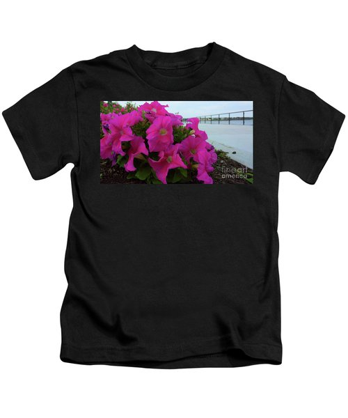 Walkway Petunias Kids T-Shirt