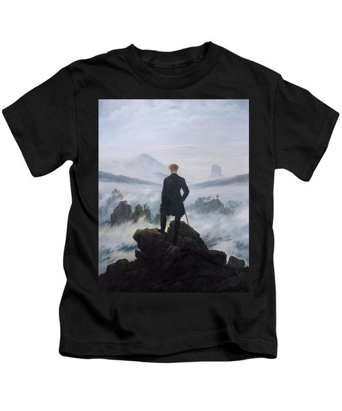 Wanderer Above The Sea Of Fog Kids T-Shirt