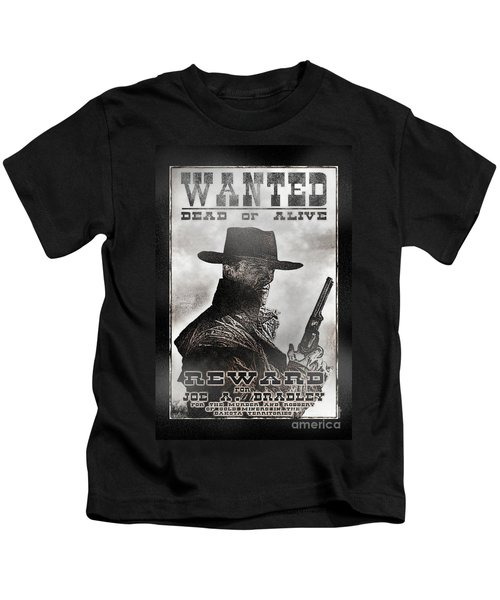 Wanted Poster Notorious Outlaw Kids T-Shirt