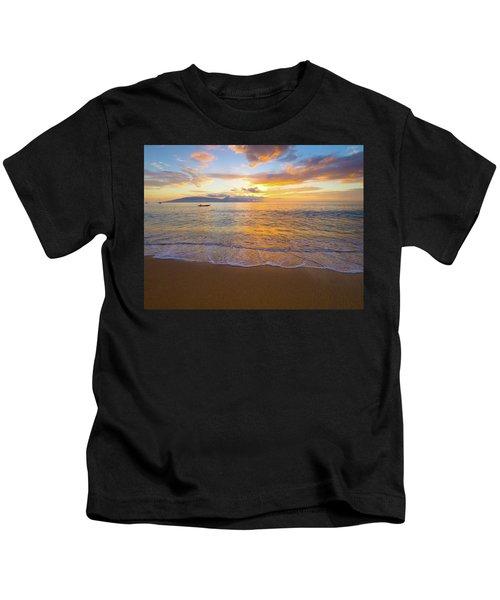 Warm Ka'anapali Sunset Kids T-Shirt