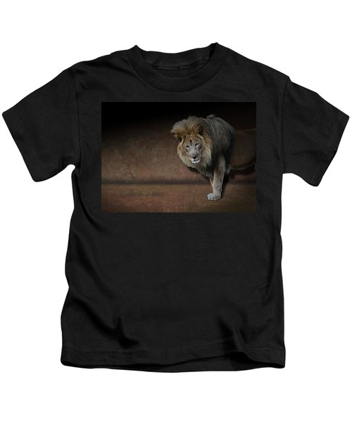 Was That My Cue? - Lion On Stage Kids T-Shirt