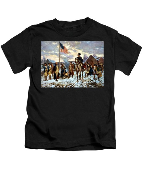 Washington At Valley Forge Kids T-Shirt