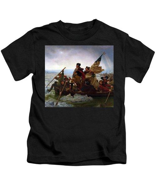 Washington Crossing The Delaware River - Detail Kids T-Shirt