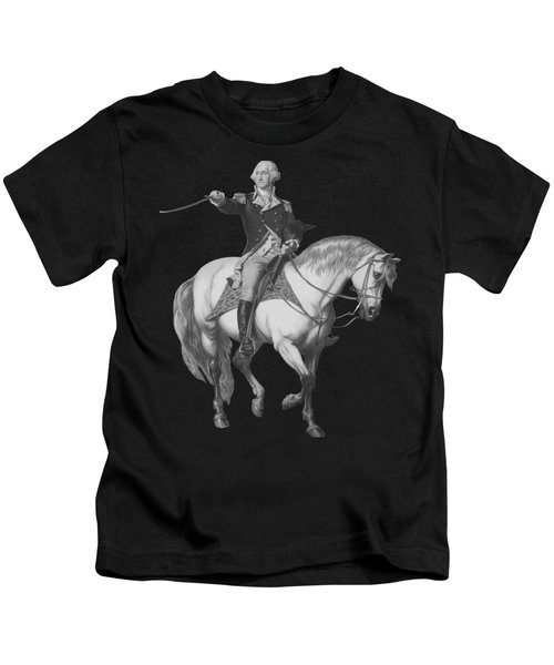 Washington Receiving A Salute At Trenton Kids T-Shirt by War Is Hell Store