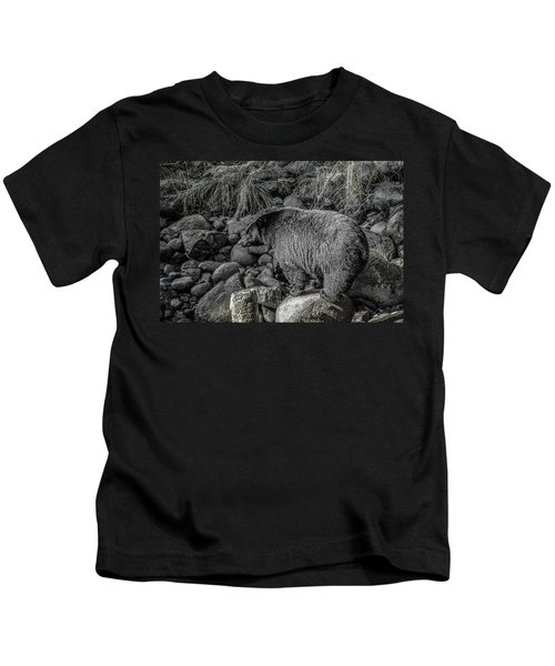 Watching Black Bear Kids T-Shirt