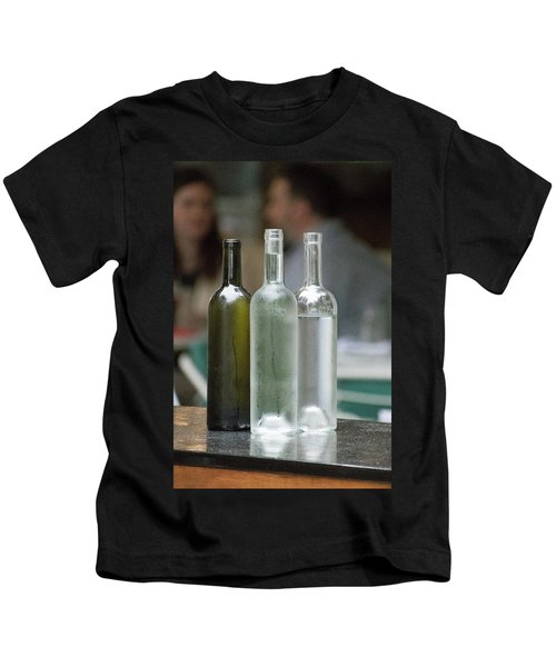 Water Bottles At The Brasserie No 1 Kids T-Shirt