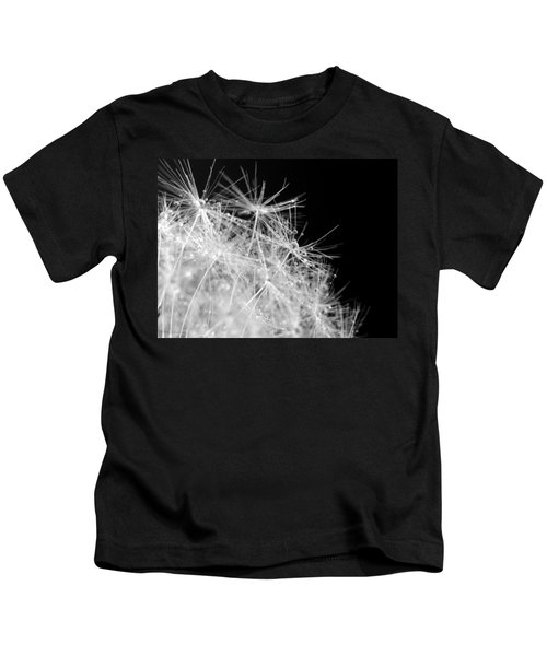 Water Drops On Dandelion Kids T-Shirt