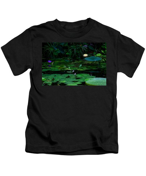 Water Lilies In The Pond Kids T-Shirt