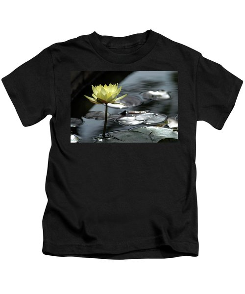 Water Lily And Silver Leaves Kids T-Shirt