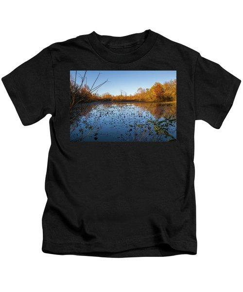 Water Lily Evening Serenade Kids T-Shirt