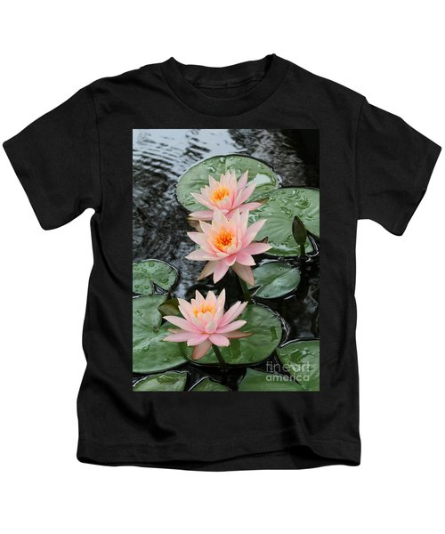 Water Lily Trio Kids T-Shirt