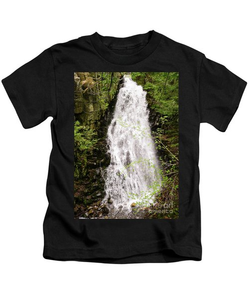 Water Roaring Down Cascade Falls, Farmington, Maine  -30377 Kids T-Shirt