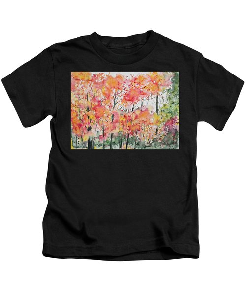 Watercolor - Autumn Forest Kids T-Shirt