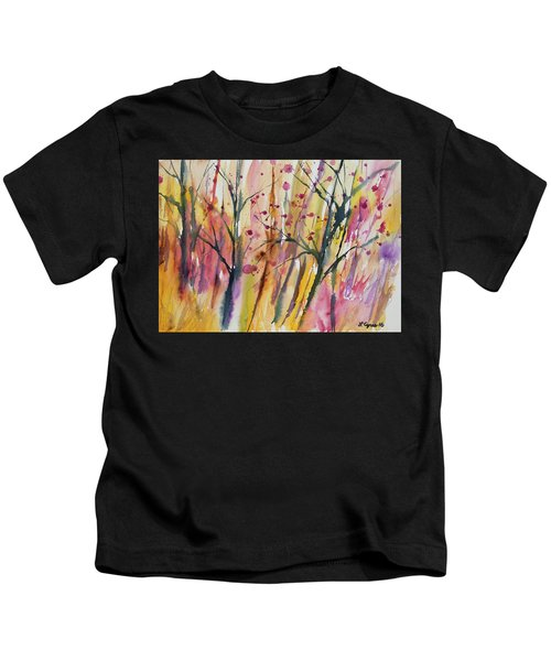 Watercolor - Autumn Forest Impression Kids T-Shirt