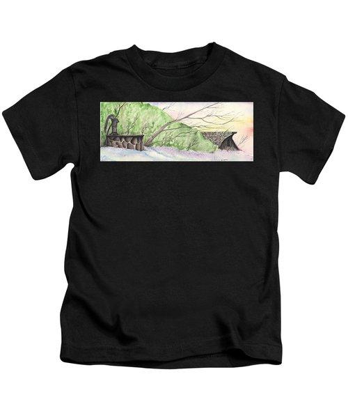 Watercolor Barn Kids T-Shirt