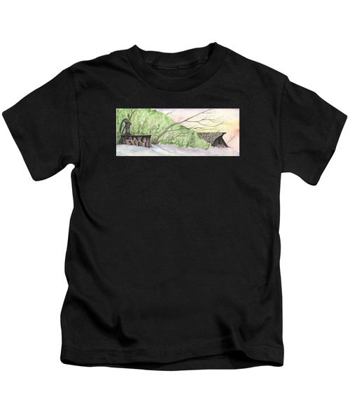 Watercolor Barn Kids T-Shirt