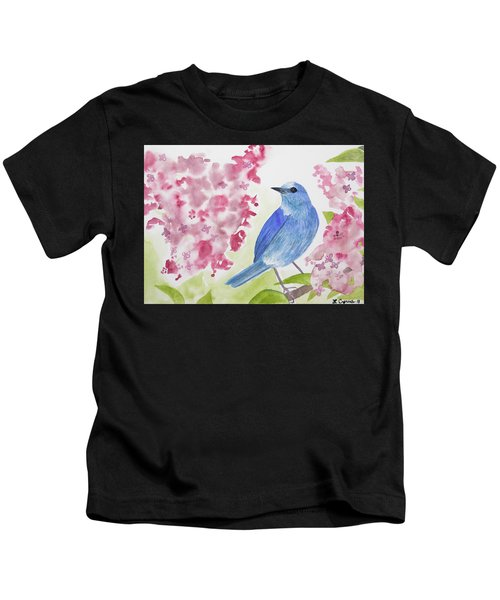 Watercolor - Mountain Bluebird Kids T-Shirt