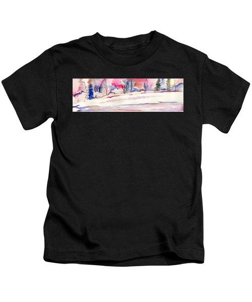 Watercolor River Kids T-Shirt