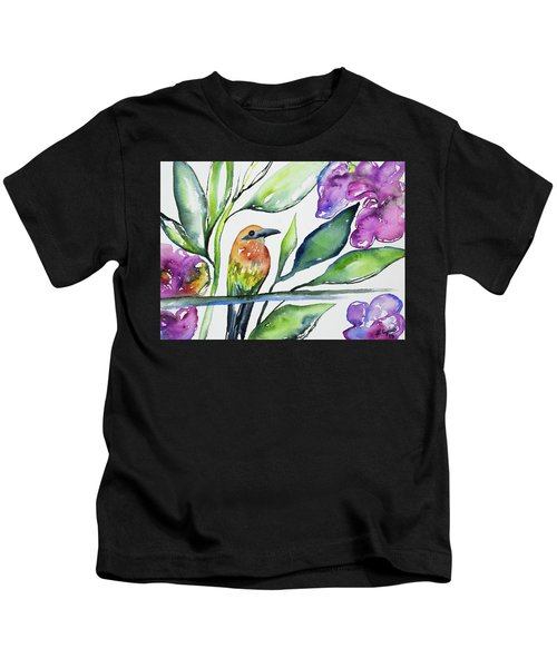 Watercolor - Rufous Motmot Kids T-Shirt