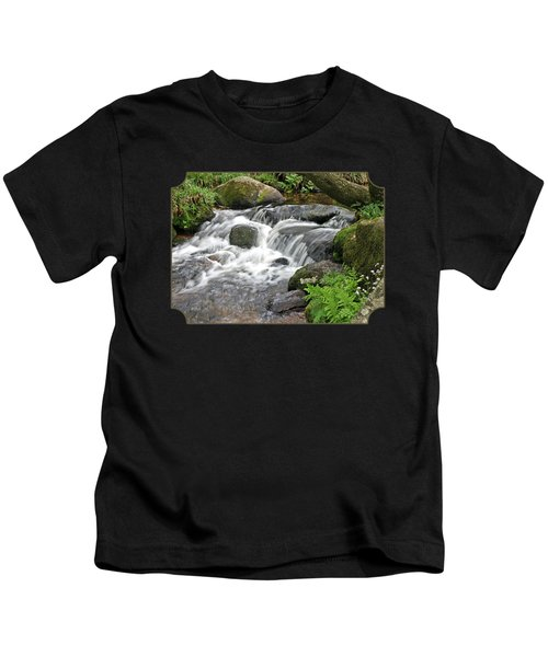 Waterfall At Hexworthy Dartmoor Kids T-Shirt
