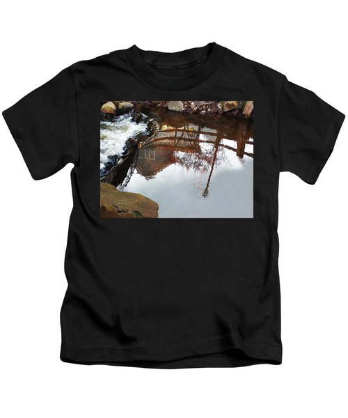 Waterfall From Calm Waters Kids T-Shirt