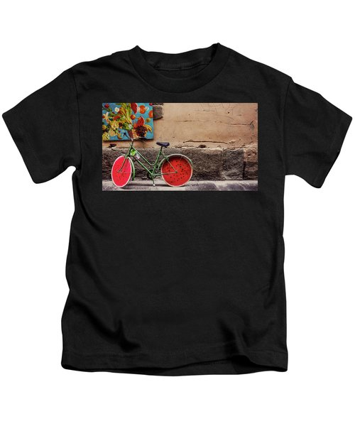 Watermelon Wheels Kids T-Shirt