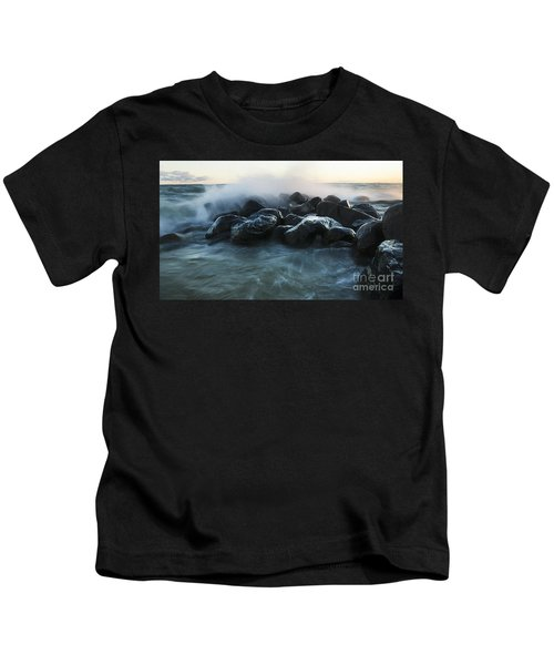 Wave Crashes Rocks 7959 Kids T-Shirt