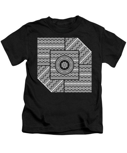 Wavy Panels Kids T-Shirt