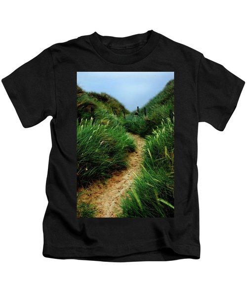 Way Through The Dunes Kids T-Shirt