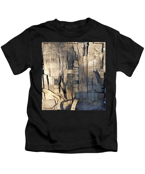 Weathered Plywood Composition Kids T-Shirt