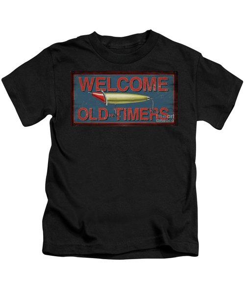 Welcome Fishing Sign Kids T-Shirt