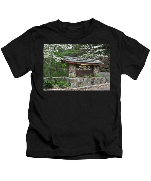 Welcome To Signal Mountain Spring Kids T-Shirt
