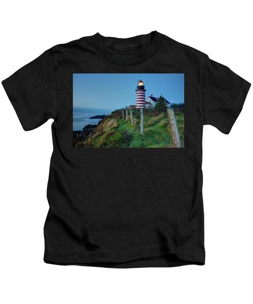 West Quoddy Head Light Kids T-Shirt