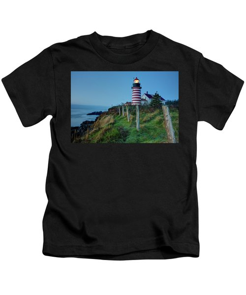 West Quoddy Head Light Kids T-Shirt