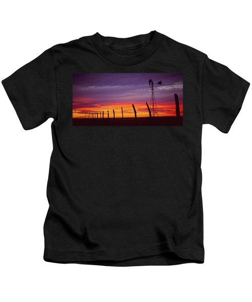 West Texas Sunset Kids T-Shirt