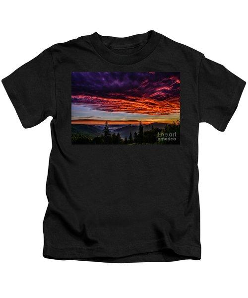 West Virginia Highland Dawn Kids T-Shirt