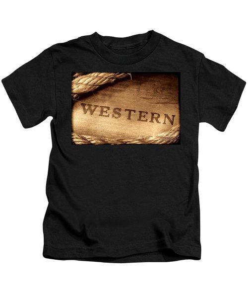 Western Stamp Branding Kids T-Shirt