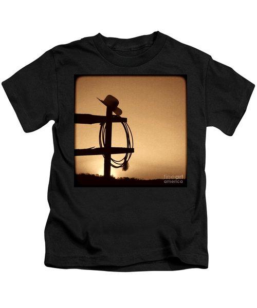 Western Sunset Kids T-Shirt