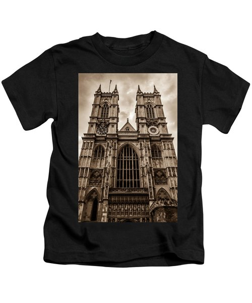 Westminister Abbey Sepia Kids T-Shirt