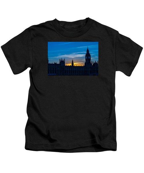 Westminster Parlament In London Golden Hour Kids T-Shirt